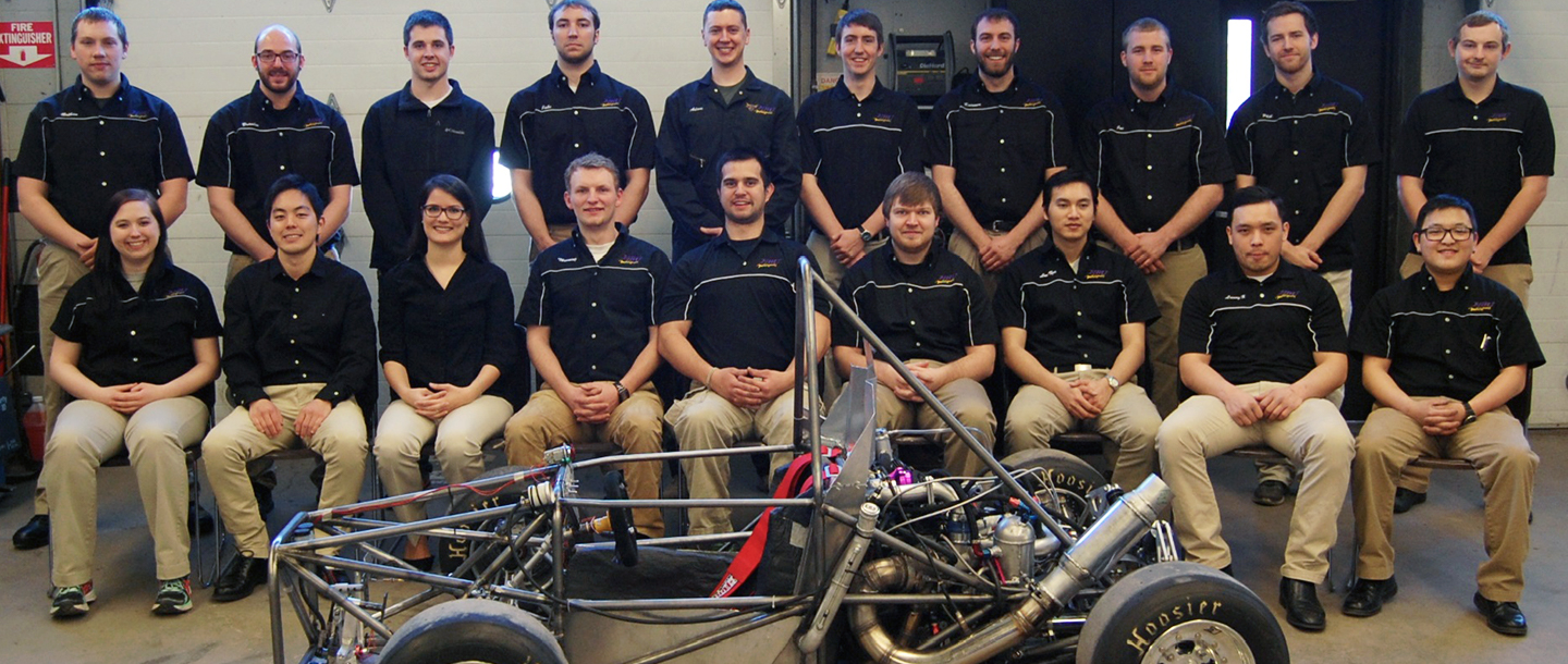 Group photo of the Automotive Engineering Technology team